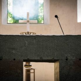 120 Millionen Jahre alt ist das Gestein des neuen Altars